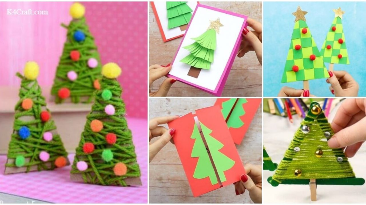 15 Diy Christmas Tree Crafts For Kids K4 Craft