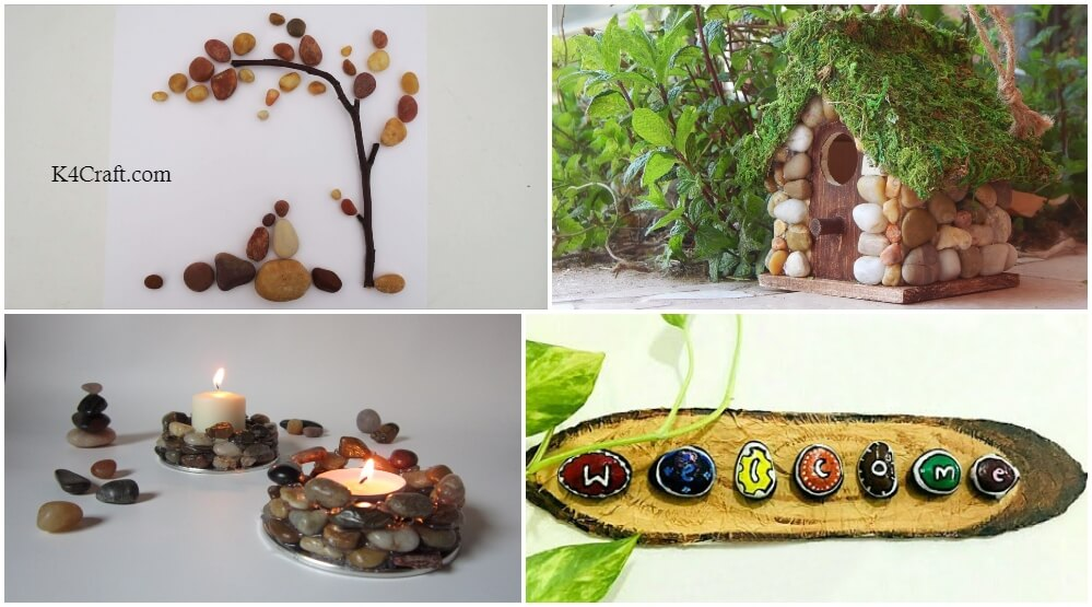 Diy Natural Stone Art Crafts For Home Decor K4 Craft