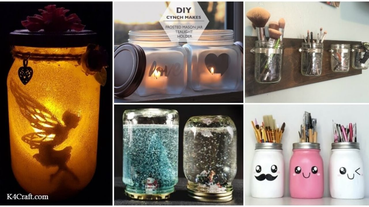 Diy Repurpose Mason Jar Craft Ideas K4 Craft