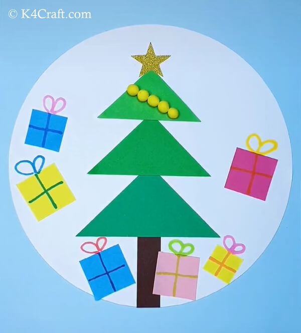 paper christmas tree craft for kids 10