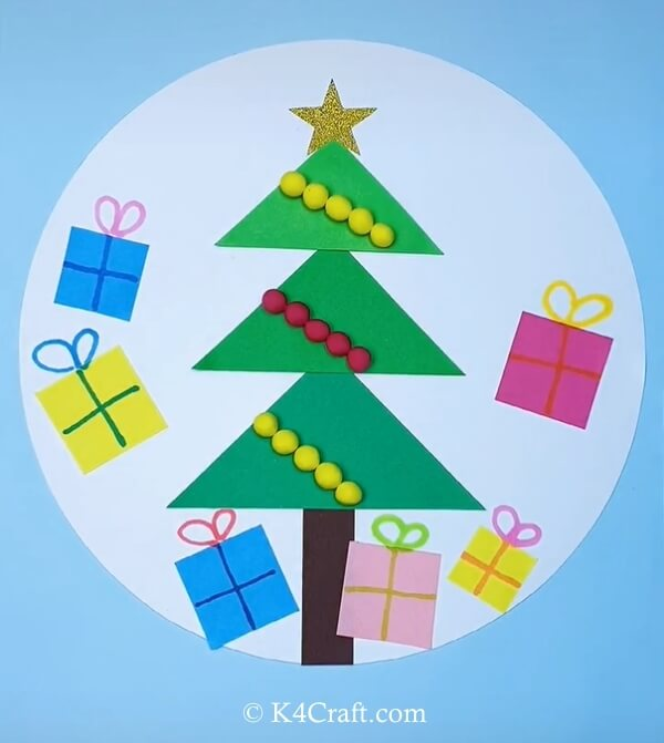paper christmas tree craft for kids 11