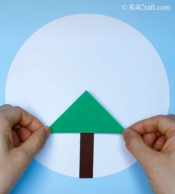paper christmas tree craft for kids 2
