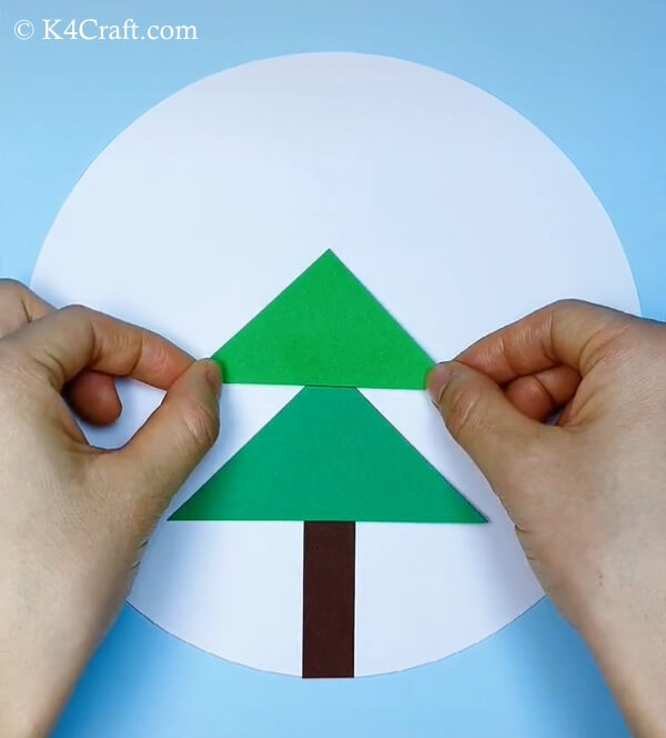 paper christmas tree craft for kids 3