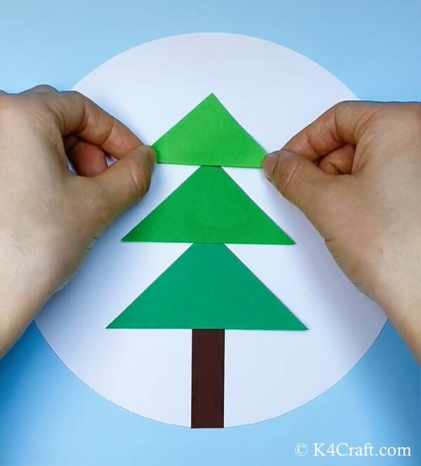 paper christmas tree craft for kids 4