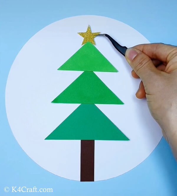 paper christmas tree craft for kids 5