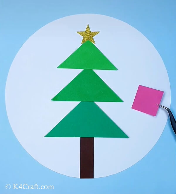 paper christmas tree craft for kids 6
