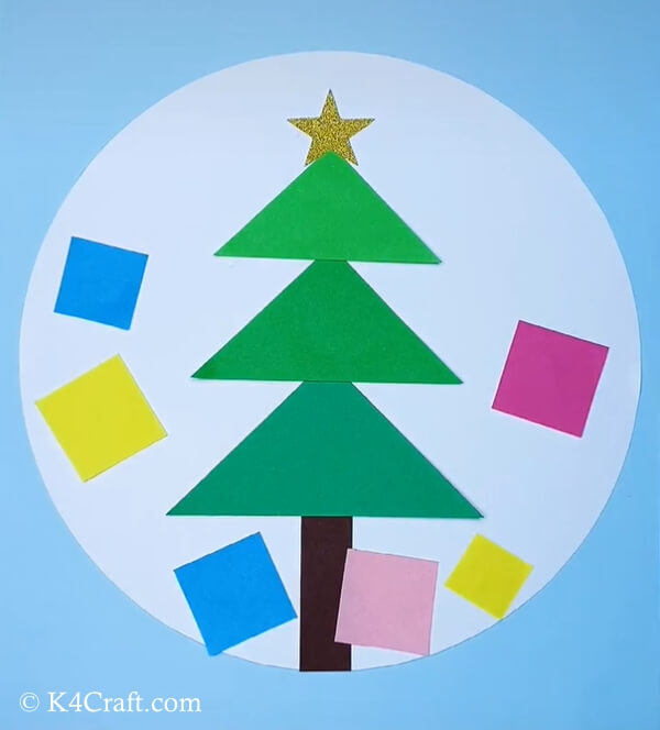 paper christmas tree craft for kids 7