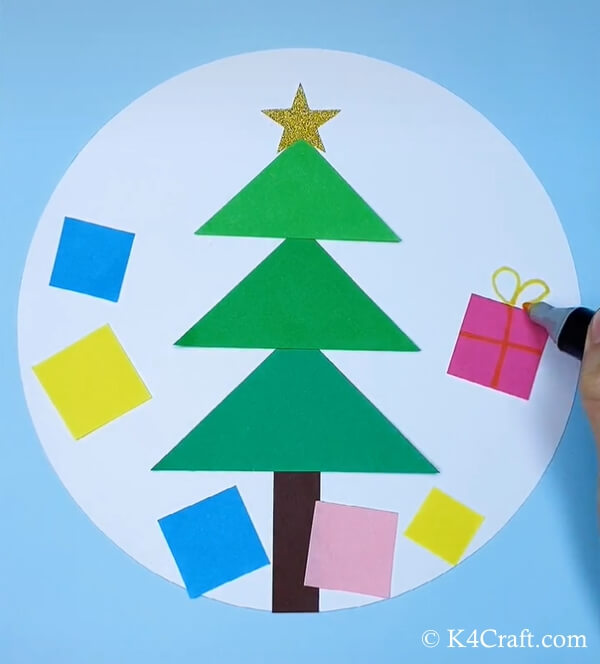 paper christmas tree craft for kids 8