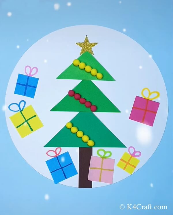 paper christmas tree craft for kids