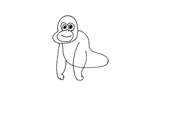 How to Draw a Gorilla for Kids - Easy Step by Step Tutorial