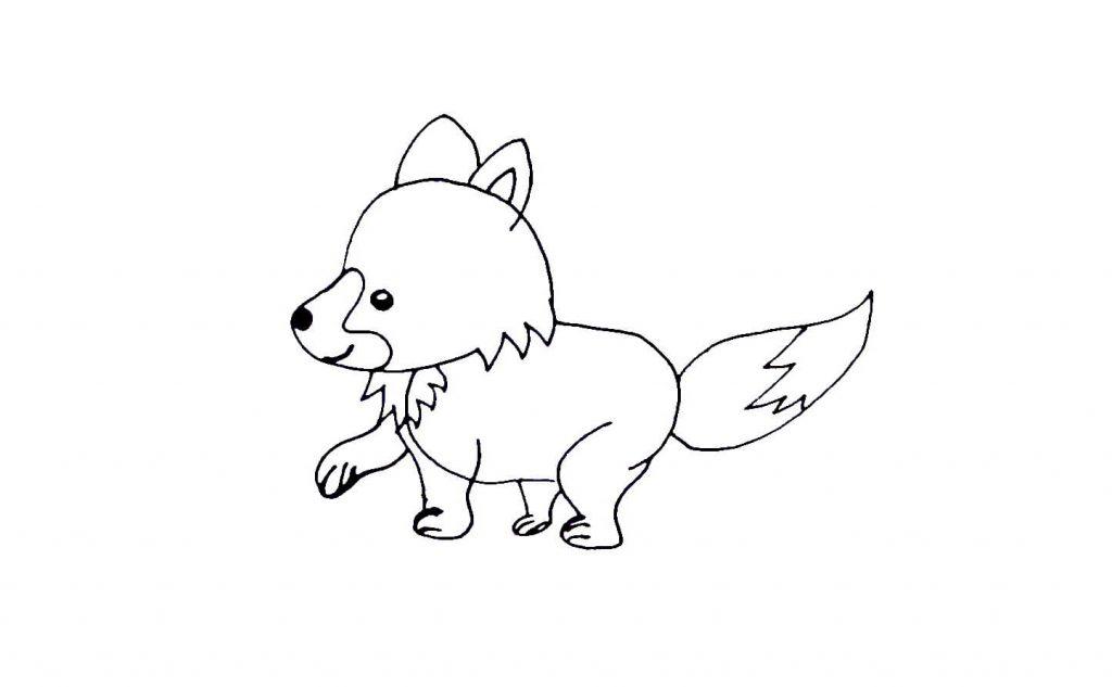 Как нарисовать волка для детей - легкое пошаговое руководство